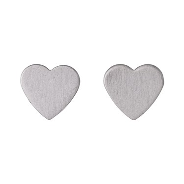 Pilgrim Vivi Silver Plated Heart Stud Earrings  - Click to view larger image