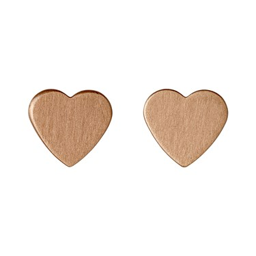 Pilgrim Vivi Rose Gold Heart Stud Earrings  - Click to view larger image