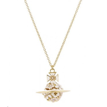 Vivienne Westwood Azalea Small Orb Gold Necklace  - Click to view larger image