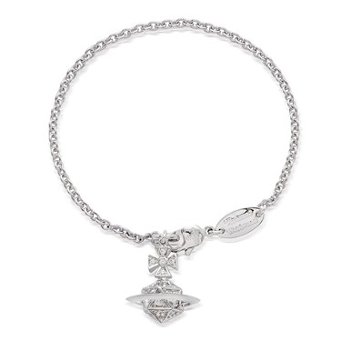 Vivienne Westwood Bessie Orb Silver Bracelet  - Click to view larger image