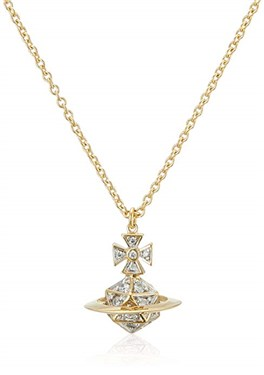 Vivienne Westwood Bessie Orb Gold Necklace  - Click to view larger image
