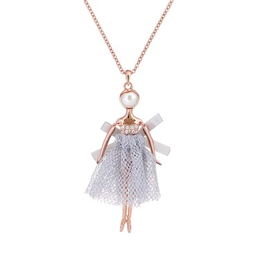 Ted Baker Bijou Pave Lilac Ballerina Pendant  - Click to view larger image