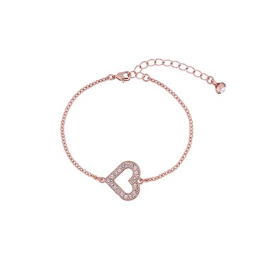 Ted Baker Edriana Enchanted Heart Rose Gold Bracelet  - Click to view larger image