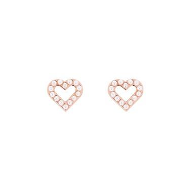 495700eda Ted Baker Edvinea Enchanted Heart Rose Gold Stud Earrings - Click to view  larger image