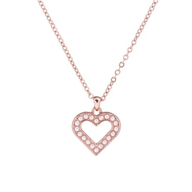 Ted Baker Evaniar Enchanted Heart Rose Gold Pendant  - Click to view larger image