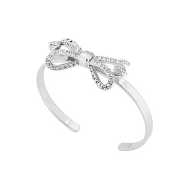 Ted Baker Hediie Ornate Pave Bow Silver Cuff  - Click to view larger image