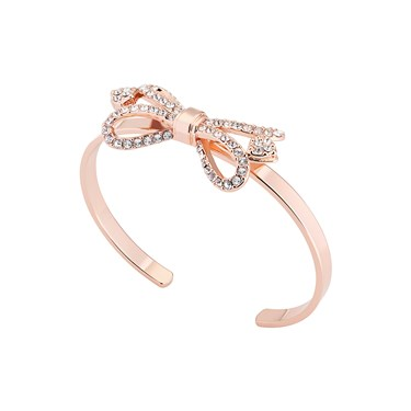 Ted Baker Hediie Ornate Pave Bow Rose Gold Cuff  - Click to view larger image