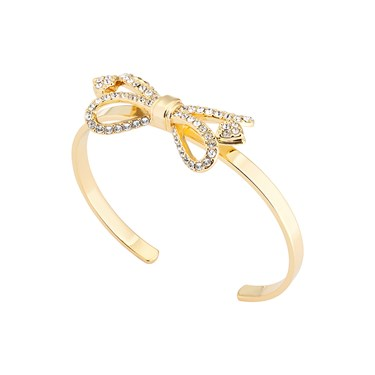 Ted Baker Hediie Ornate Pave Bow Gold Cuff  - Click to view larger image
