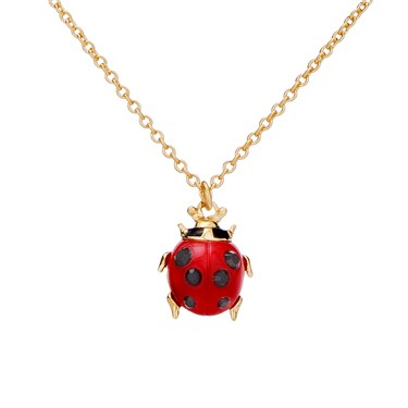 Vivienne Westwood Ladybird Red and Gold Necklace  - Click to view larger image