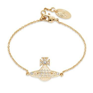 Vivienne Westwood Mini Bas Relief Orb Gold Bracelet  - Click to view larger image
