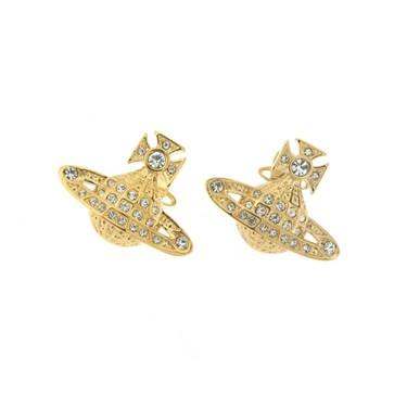 Vivienne Westwood Minnie bas relief earrings  - Click to view larger image