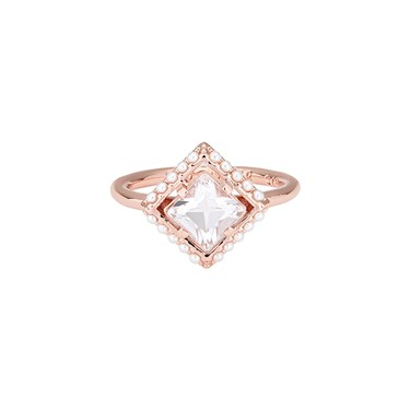 91f52511122eb8 Ted Baker Paladia Pearl Frame Square Ring - Click to view larger image
