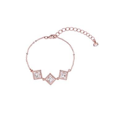 Ted Baker Palilla Pearl Framed Crystal Rose Gold Bracelet  - Click to view larger image