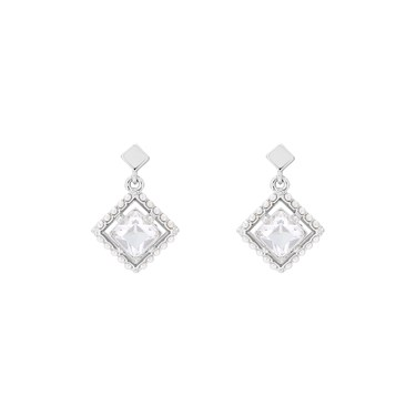 Ted Baker Pasho Pearl Frame Crystal Drop Earrings  - Click to view larger image