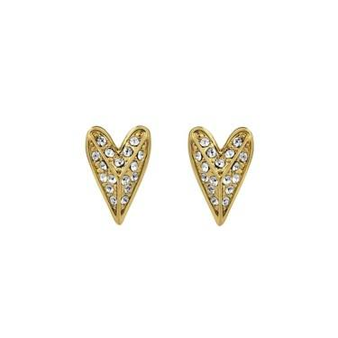 Karl Lagerfeld Gold Pyramid Heart Earrings  - Click to view larger image