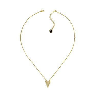 Karl Lagerfeld Gold Pyramid Heart Necklace  - Click to view larger image