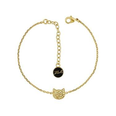 Karl Lagerfeld Gold Choupette Bracelet  - Click to view larger image