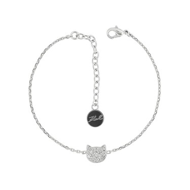 Karl Lagerfeld Silver Choupette Bracelet  - Click to view larger image