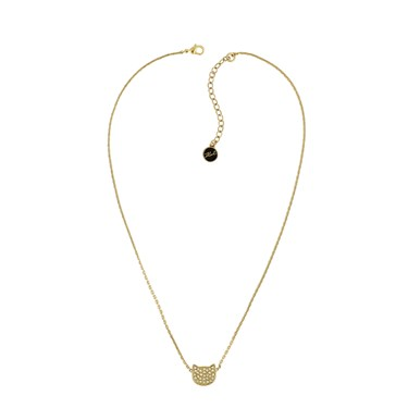 Karl Lagerfeld Gold Choupette Necklace  - Click to view larger image