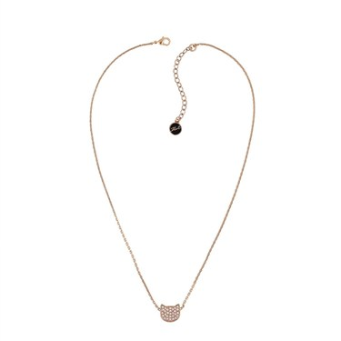 Karl Lagerfeld Rose Gold Choupette Necklace  - Click to view larger image