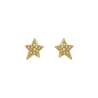 Karl Lagerfeld Gold Star Stud Earrings  - Click to view larger image