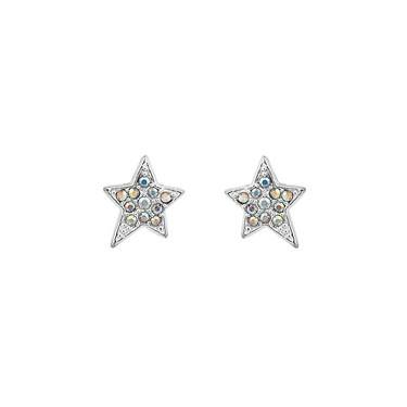 Karl Lagerfeld Silver Star Stud Earrings  - Click to view larger image