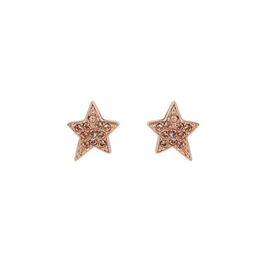 Karl Lagerfeld Rose Gold Star Stud Earrings  - Click to view larger image