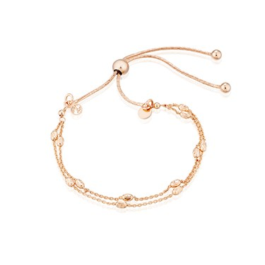 Argento Rose Gold Double Layer Bracelet  - Click to view larger image
