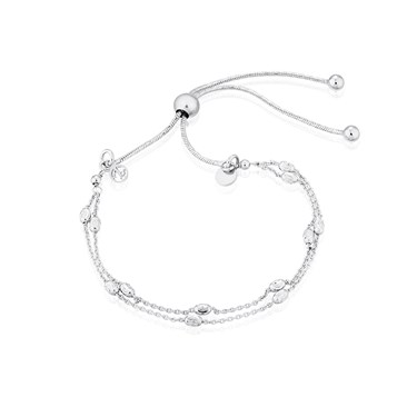 Argento Silver Double Layer Bracelet  - Click to view larger image