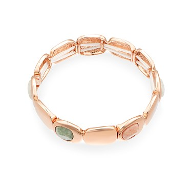 August Woods Rose Gold Geometric Bracelet  - Click to view larger image