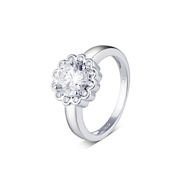 Argento Crystal Cluster Flow Ring  - Click to view larger image