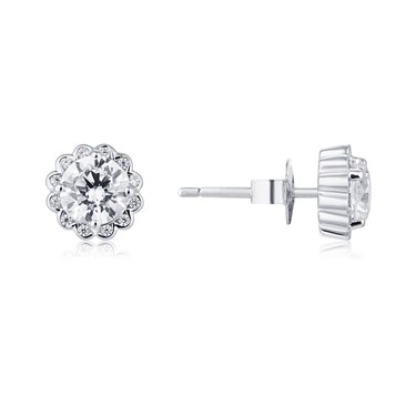 Argento Crystal Cluster Flow Earrings  - Click to view larger image