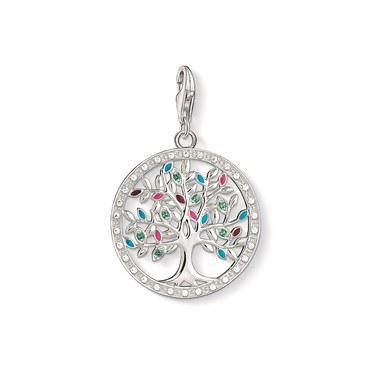 Thomas Sabo Multi-colour Tree of Life Charm  - Click to view larger image