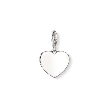 Thomas Sabo Slver Engravable Heart Charm  - Click to view larger image