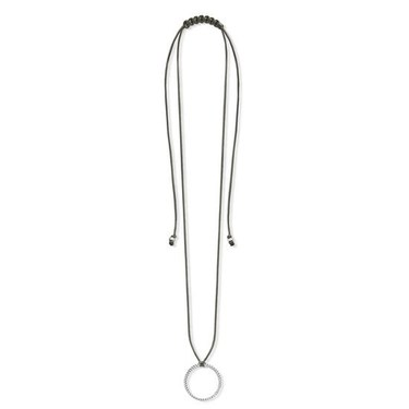 Thomas Sabo Khaki Ribbon Necklace  - Click to view larger image