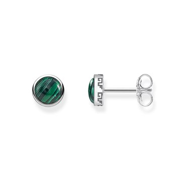 Thomas Sabo Emerald Agate Stud Earrings  - Click to view larger image