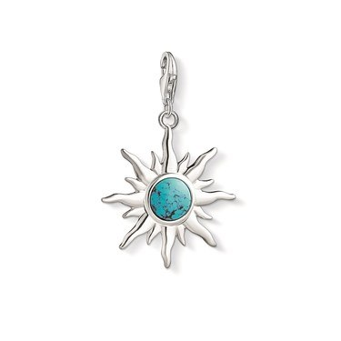 18a922af7 Thomas Sabo Turquoise Sun Charm - Click to view larger image