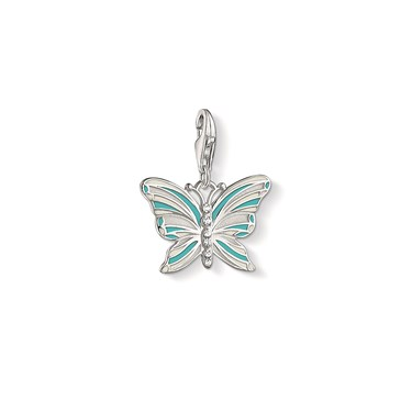 Thomas Sabo Turquoise Butterfly Charm  - Click to view larger image