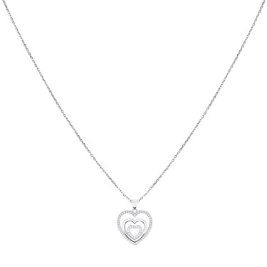 Argento Heart Within a Heart Necklace  - Click to view larger image