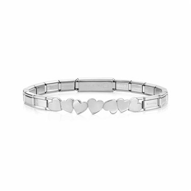 Nomination Silver Trendsetter Heart Bracelet  - Click to view larger image
