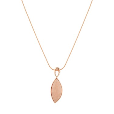 August Woods Rose Gold & Pink Stone Drop Necklace  - Click to view larger image