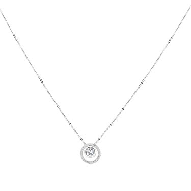 Argento Floating Halo Necklace  - Click to view larger image