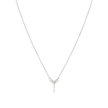 Argento Silver Stellar Drop Necklace  - Click to view larger image