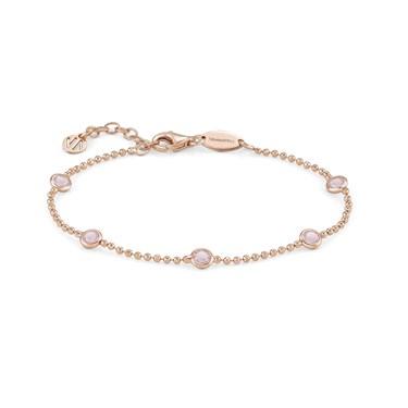 Nomination Bella Bloom Rose Gold & Pink Bracelet  - Click to view larger image