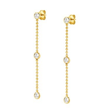 Nomination Bella Bloom Gold Crystal Earrings  - Click to view larger image