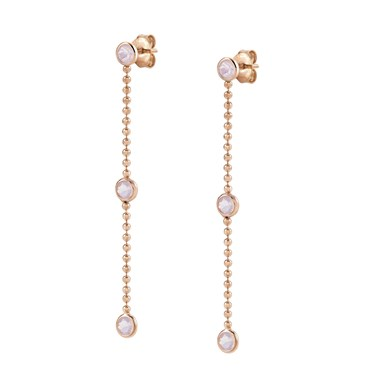 Nomination Bella Bloom Rose Gold & Pink Crystal Earrings  - Click to view larger image
