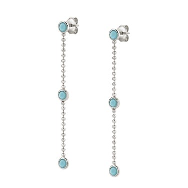 Nomination Bella Bloom Blue Earrings  - Click to view larger image