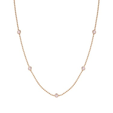 Nomination Bella Bloom Pink & Rose Gold Necklace  - Click to view larger image