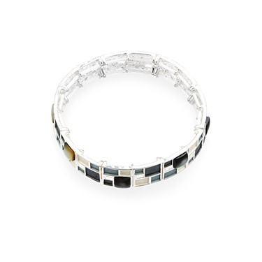 August Woods Grey Frosted Bracelet  - Click to view larger image