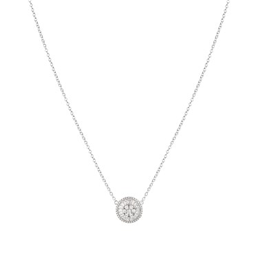 Argento Silver Stellar Circle Necklace  - Click to view larger image